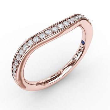1/5ct Bead and Channel Set Contour Diamond Band