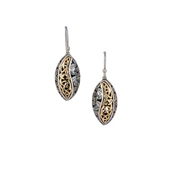 Eternity Leaf Hook Earrings