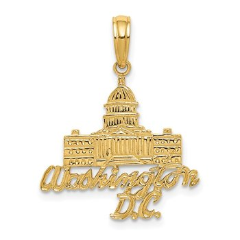 14k WASHINGTON D.C. Capitol Building Pendant