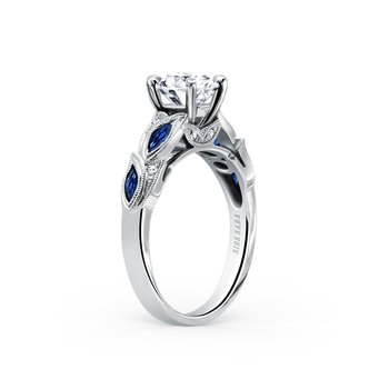 Blue Sapphire Natural Diamond Engagement Ring