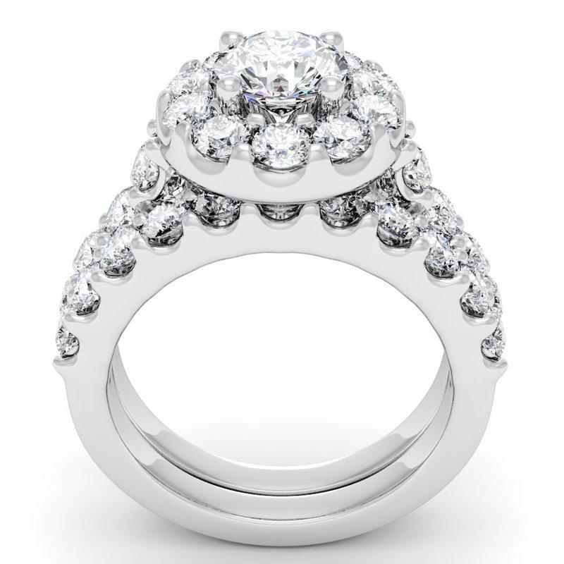 gemifique gemifique halo engagement ring with
