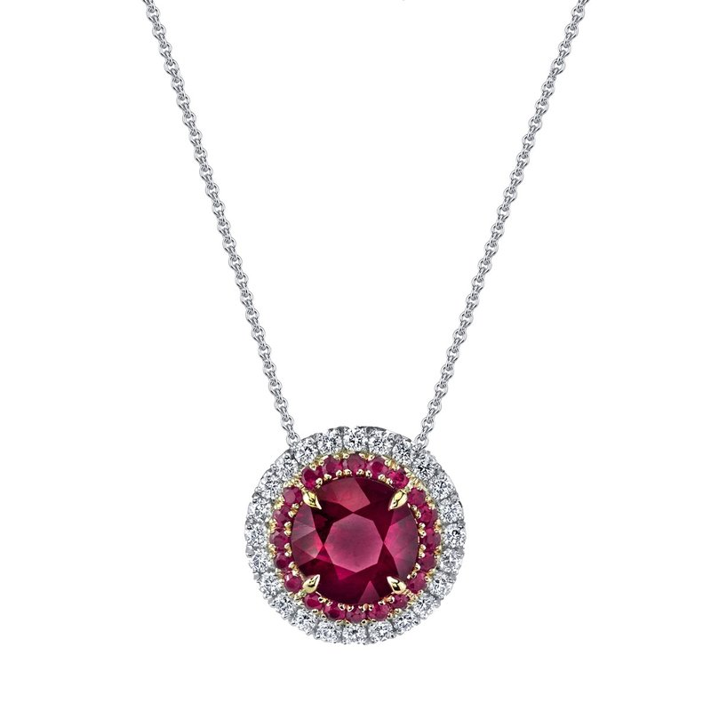 Omi Prive Ruby & Diamond Slide Pendant