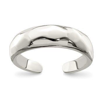 Sterling Silver Solid Polished Domed Toe Ring