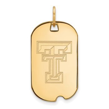 Gold Texas Tech University NCAA Pendant