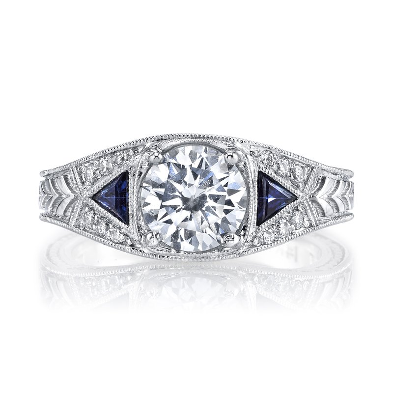 MARS Jewelry MARS 14586  Diamond Engagement Ring 0.30 Ct Dia, 0.24 Ct Saph.