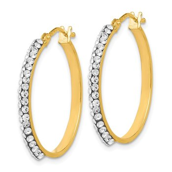 Leslie's 14K Crystals from Swarovski Polished Hoop Earrings