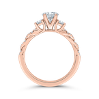Carizza 14K Rose Gold Diamond Engagement Ring (Semi-Mount)
