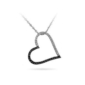 10K WG Diamond Heart Pendant