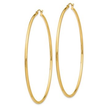 14k Lightweight Hoop Earrings