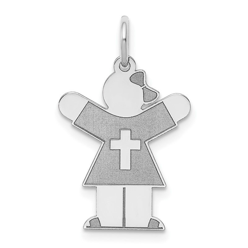 Lester Martin Online Collection 14k White Gold Kid Charm