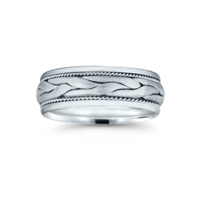 Novell Mens Hand Braided Wedding Band
