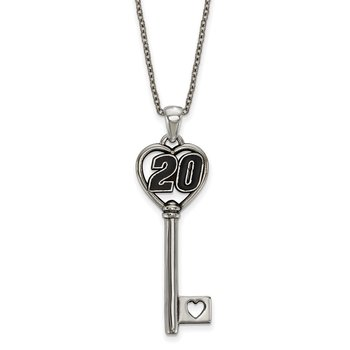 Stainless Steel 20 Matt Kenseth NASCAR Necklace