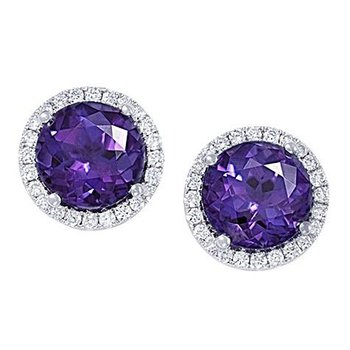 Alexandrite Earrings-CE3829WAL