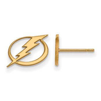 Gold-Plated Sterling Silver Tampa Bay Lightning NHL Earrings