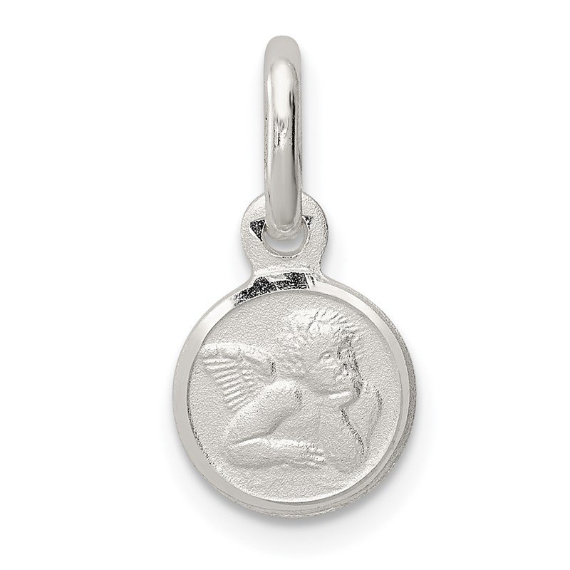 Quality Gold Sterling Silver Satin Angel Charm