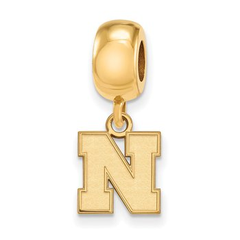 Gold-Plated Sterling Silver University of Nebraska NCAA Bead