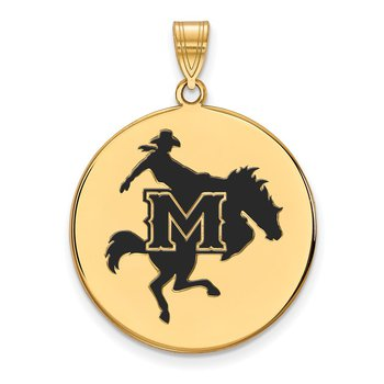 Gold-Plated Sterling Silver McNeese State University NCAA Pendant