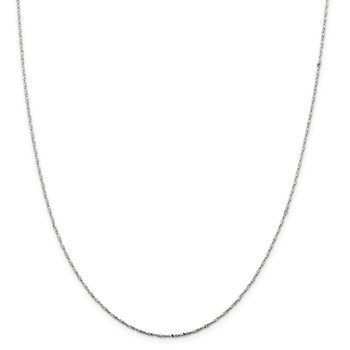 Sterling Silver 1mm Twisted Serpentine Chain