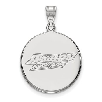 Gold University of Akron NCAA Pendant