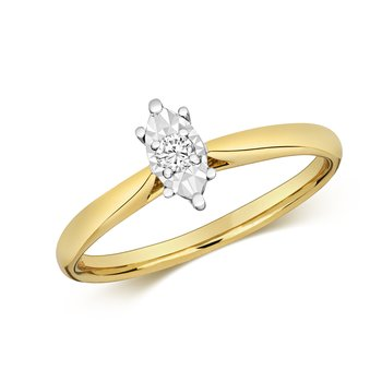 Diamond Illusion Solitaire Marquise