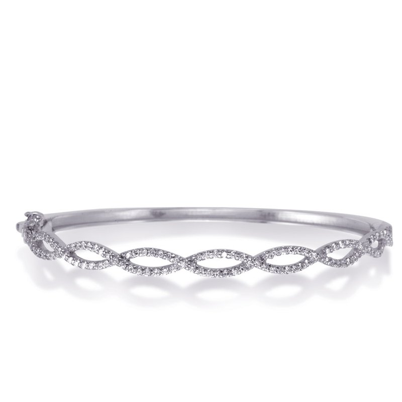 S. Kashi  & Sons White Gold Bangle Bracelet