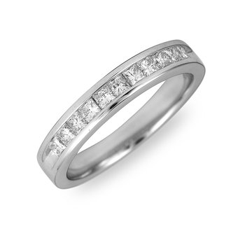 14K WG and Palladium Diamond Wedding Band