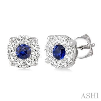 lovebright gemstone & diamond earrings
