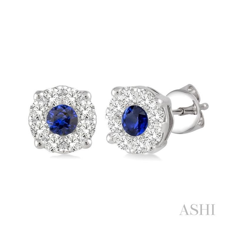 ASHI lovebright gemstone & diamond earrings