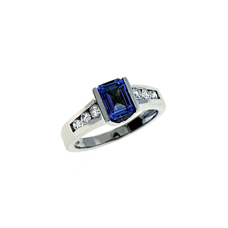 S. Kashi  & Sons Tanzanite & Diamond Ring