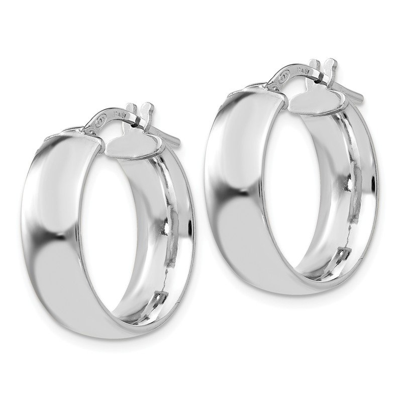 Leslie's Leslie's Sterling Silver Rhodium-plated Hoop Earrings