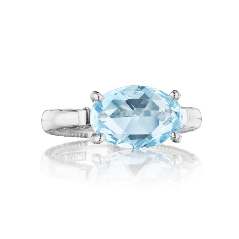 Tacori Fashion East-West Oval Ring featuring Sky Blue Topaz
