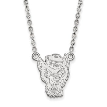 Sterling Silver North Carolina State University NCAA Necklace