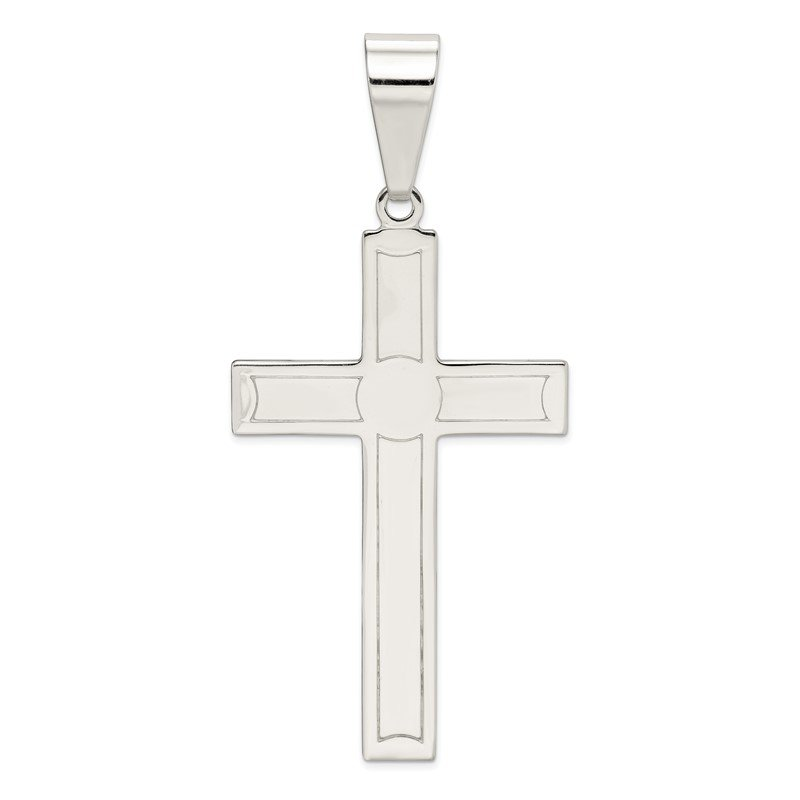 Quality Gold Sterling Silver Polished Cross Pendant