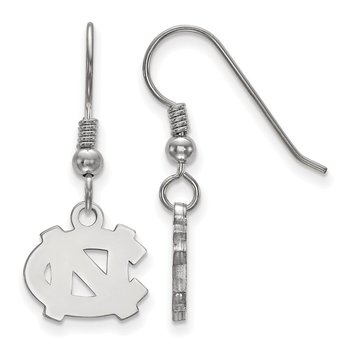 Sterling Silver University of North Carolina NCAA Earrings