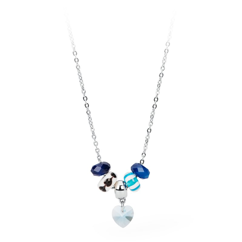Brosway 316L stainless steel, blue agathe, coloured glass and light sapphire Swarovski® Elements crystal.
