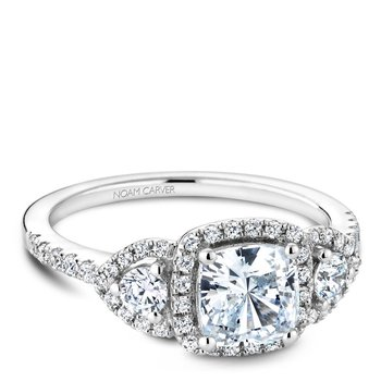 Noam Carver 3 Stone Engagement Ring B213-01A