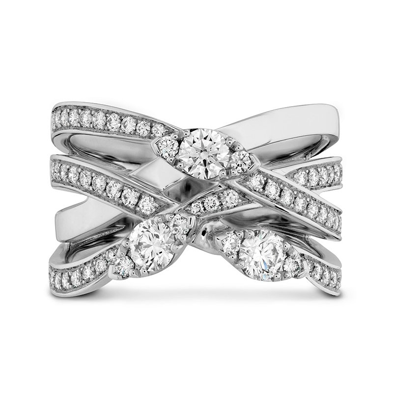 Hearts on Fire 0.85 ctw. Aerial Diamond Right Hand Ring