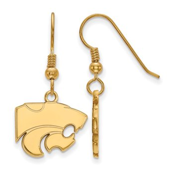 Gold-Plated Sterling Silver Kansas State University NCAA Earrings
