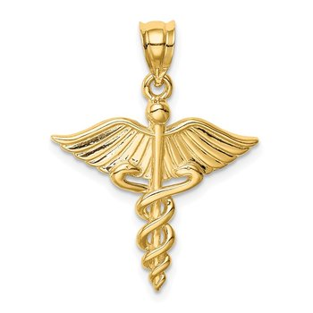 14K Polished 3-D Medical Pendant