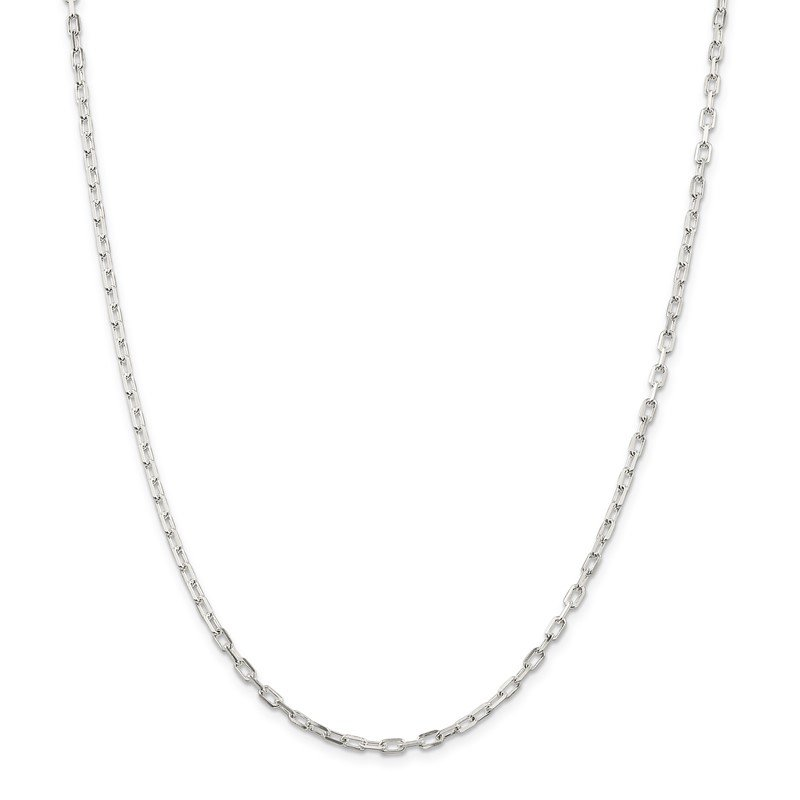 Quality Gold Sterling Silver 2.9mm Diamond-cut Long Link Cable Chain