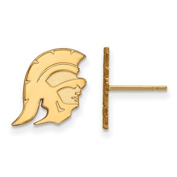 Gold-Plated Sterling Silver University of Southern California NCAA Earrings