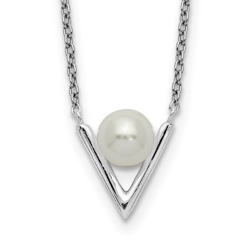 Sterling Silver Glass Pearl Necklace