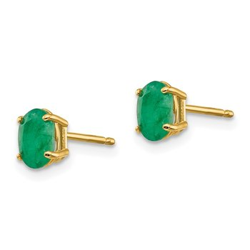 14k Emerald Earrings - May