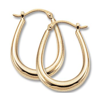 "14kt Yel ""U"" Shape Hoop Earrings"