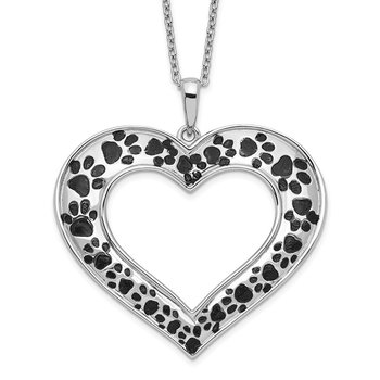 Sterling Silver Antiqued Animal Lover 18in. Necklace