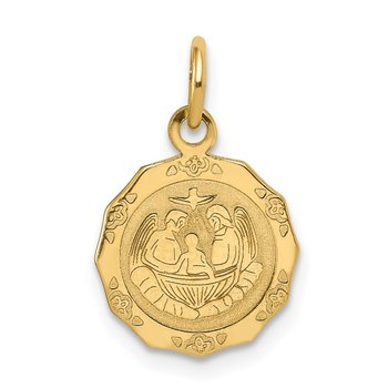 14k Baptism Polished Charm
