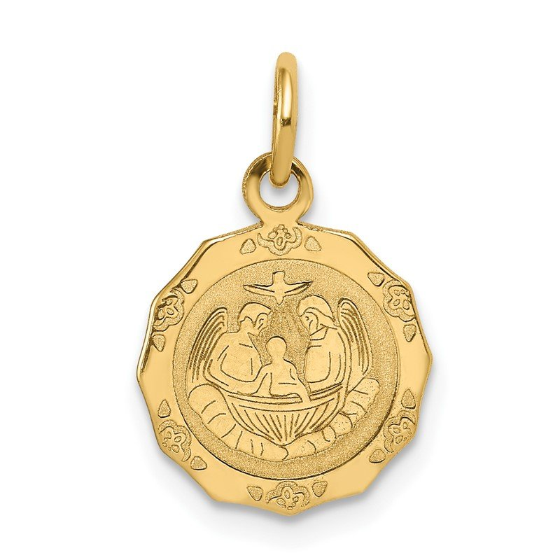 J.F. Kruse Signature Collection 14k Baptism Polished Charm