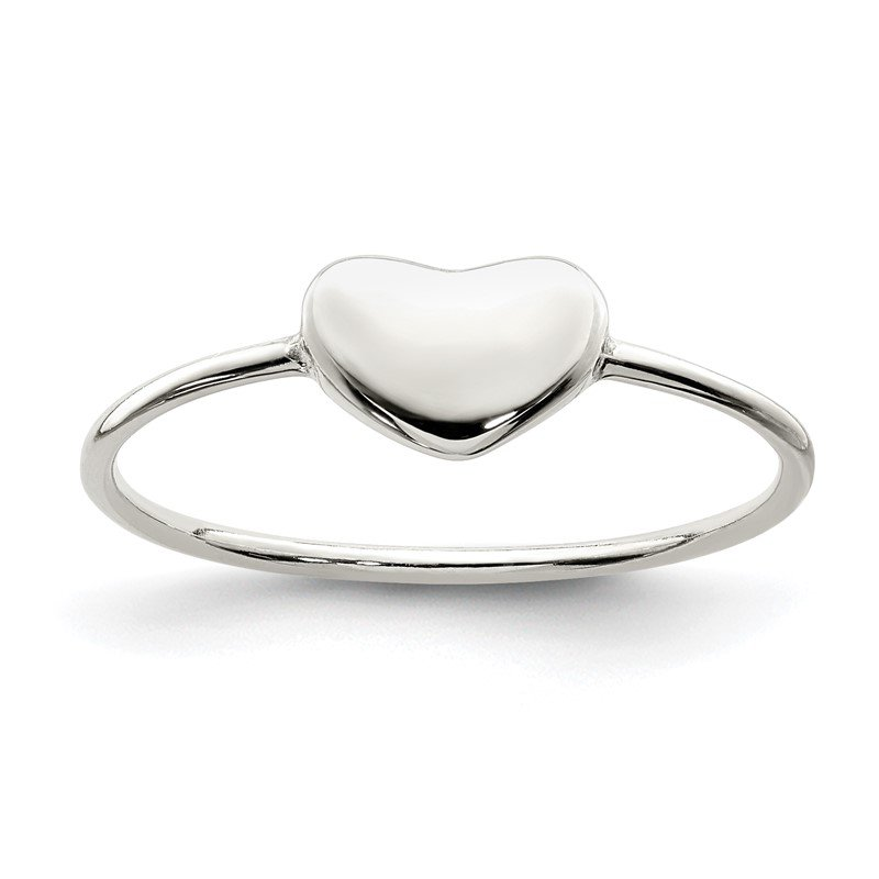 Quality Gold Sterling Silver Polished Heart Ring