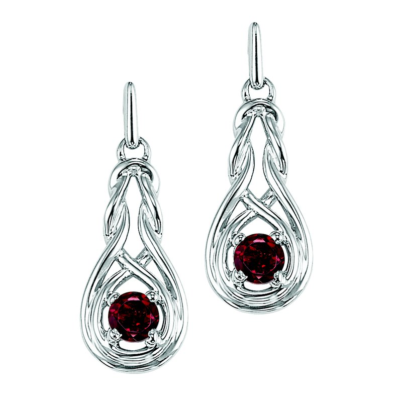 Mixables Silver Garnet Earrings (Available In all BirthStones)