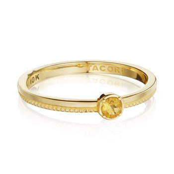 Gemstone Band Ring w/ Citrine